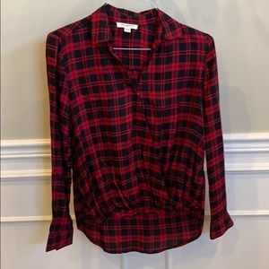 Checkered criss-cross shirt